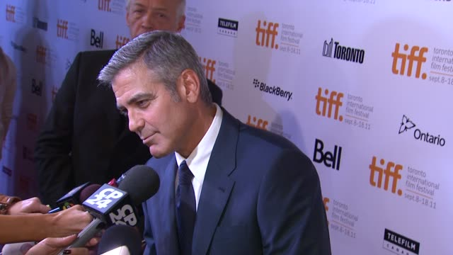george clooney at the 'ides of march' premiere 2011 toronto international film festival at toronto on - george clooney stock videos and b-roll footage
