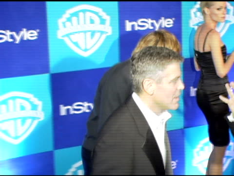 george clooney at the instyle/warner brothers golden globes party at the beverly hilton in beverly hills california on january 16 2006 - 2006 stock videos & royalty-free footage