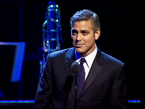 george clooney at the singers and songs celebration of tony bennett's 80th birthday by raising funds for newman�s 'hole in the wall camps' at the... - tony bennett singer stock videos and b-roll footage