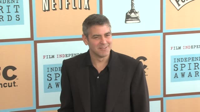 george clooney at the the 21st annual ifp independent spirit awards in santa monica, california on march 4, 2006. - george clooney stock videos & royalty-free footage