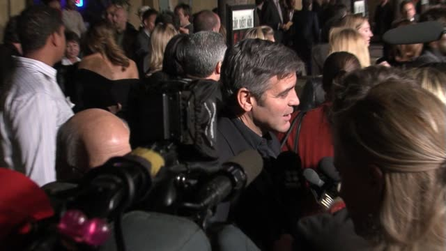 george clooney at the the good german los angeles premiere at the egyptian theater in hollywood california on december 4 2006 - 2006 stock videos & royalty-free footage