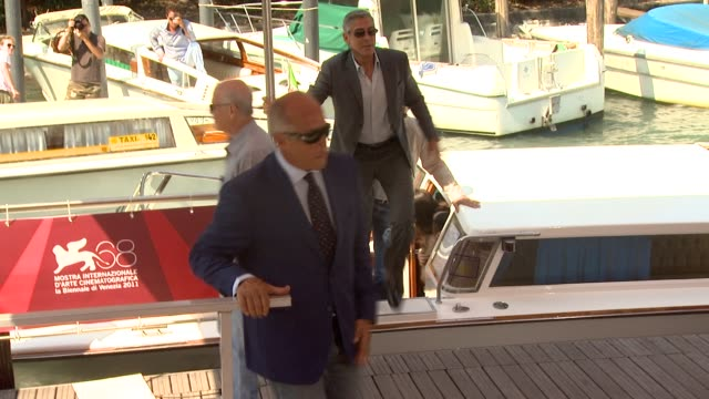 george clooney at the the ides of march arrivals venice film festival 2011 at venice - george clooney stock videos and b-roll footage