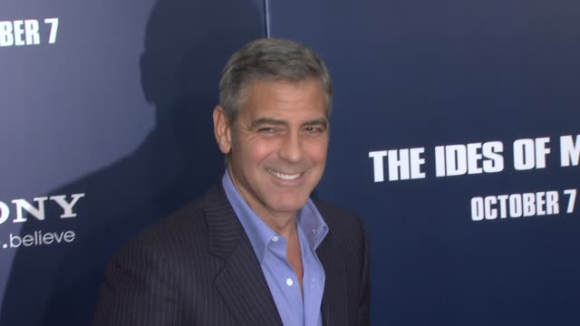 George Clooney at the 'The Ides Of March' New York Premiere Red Carpet at New York NY