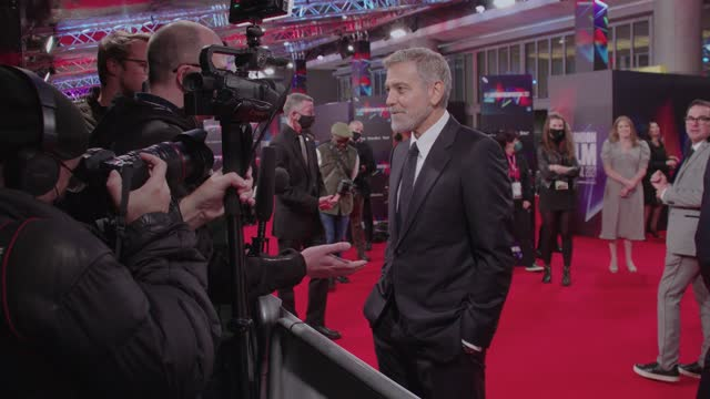 """george clooney attends """"the tender bar"""" uk premiere during the 65th bfi london film festival at the royal festival hall on october 7, 2021 in london,... - premiere stock videos & royalty-free footage"""