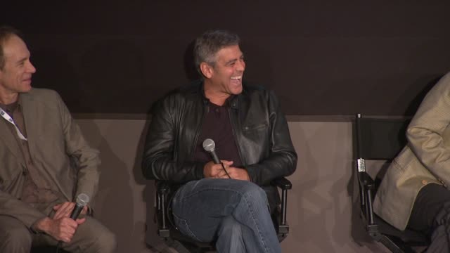 George Clooney deals with a question about being cheated on in real life and how he'd deal with it at the 'The Descendants' 49th Annual New York Film...
