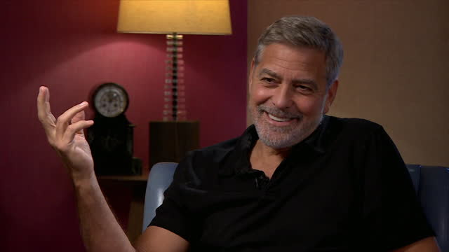 george clooney explaining how his new film 'the tender bar' somewhat reflects his own experience growing up - enjoyment stock videos & royalty-free footage