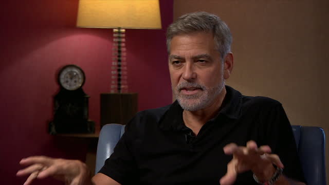 """george clooney explaining why being a director is more """"fun"""" than being an actor - enjoyment stock videos & royalty-free footage"""