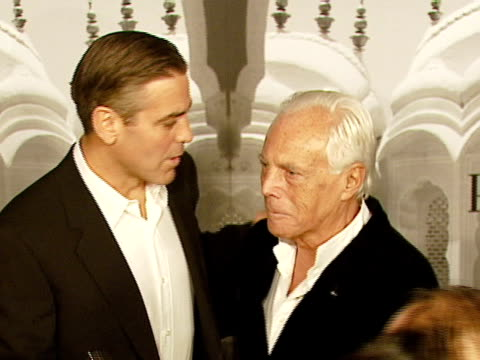 george clooney giorgio armani at the giorgio armani celebrates 'the oscars' with exclusive prive show at beverly hills california - 2007 stock videos & royalty-free footage