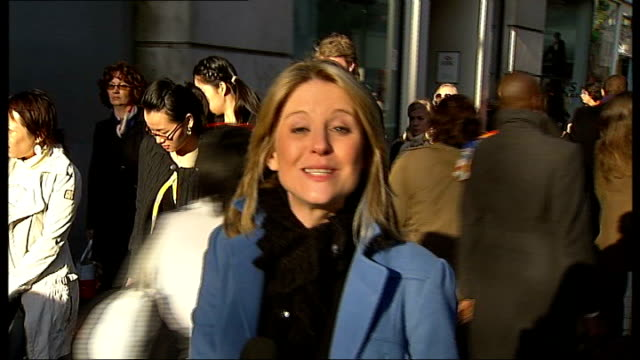 london ext reporter to camera vox pops - george clooney stock videos and b-roll footage