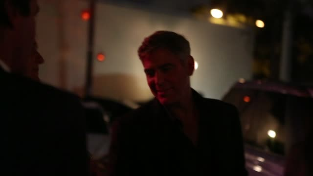 exclusive george clooney is sighted leaving rocco's tacos in fort lauderdale florida exclusive george clooney is sighted leaving rocco's tacos in at... - george clooney stock videos and b-roll footage