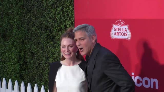 George Clooney Julianne Moore at the Premiere Of Paramount Pictures' 'Suburbicon' on October 22 2017 in Los Angeles California