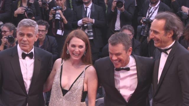 George Clooney Matt Damon Julianne Moore Alexandre Desplat at 'Suburbicon' Red Carpet 74th Venice International Film Festival at Palazzo del Cinema...