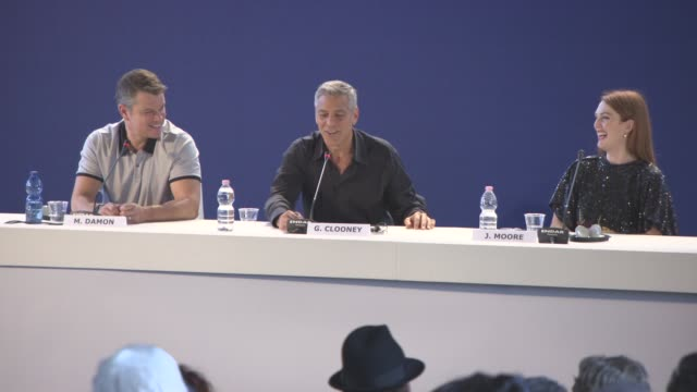 INTERVIEW George Clooney Matt Damon Julianne Moore on not acting directing Oscar Isaac performance George Clooney as an director at 'Suburbicon'...