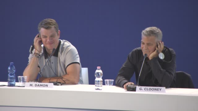 INTERVIEW George Clooney Matt Damon on eorge Clooney being the next president of the United States at 'Suburbicon' Press Conference 74th Venice...