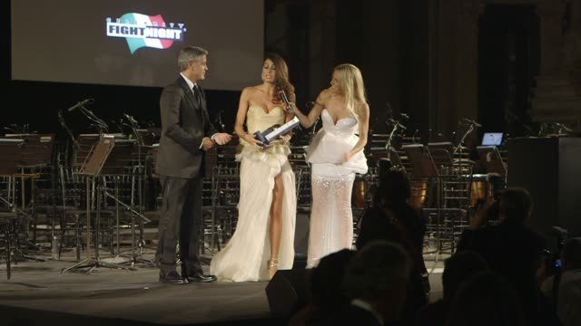 George Clooney Michelle Hunziker at Celebrity Fight Night In Italy Benefiting The Andrea Bocelli Foundation The Muhammad Ali Parkinson Center on...