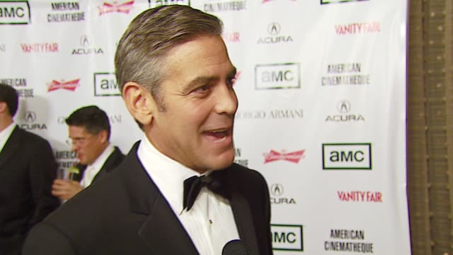 george clooney on being honored at the 2006 annual american cinematheque awards honoring george clooney at the beverly hilton in beverly hills,... - american cinematheque stock-videos und b-roll-filmmaterial