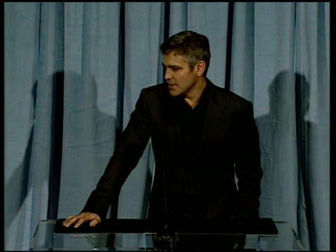 George Clooney on being political and Dick Cheney at the 2006 Annual Academy Awards Nominees Luncheon at the Beverly Hilton in Beverly Hills...