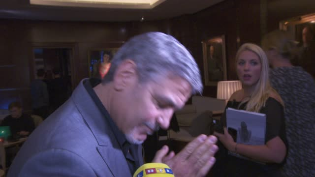 INTERVIEW George Clooney on Cindy Crawford and beauty at Casamigos Tequila and Cindy Crawford book launch party at The Beaumont Hotel on October 01...