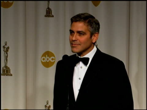 george clooney on his acceptance speech at the 2006 annual academy awards at the kodak theatre in hollywood, california on march 5, 2006. - george clooney stock videos & royalty-free footage