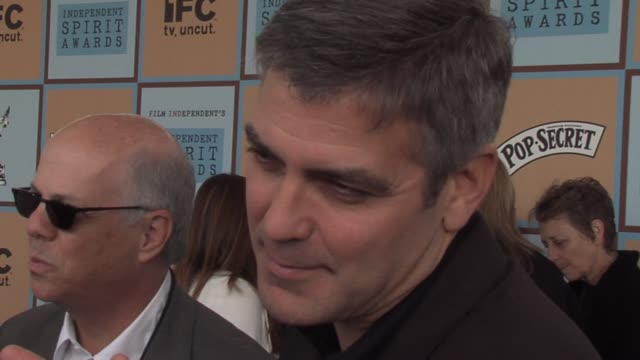 george clooney on his best director nomination and on the definition of an independent film primarily being about budget at the the 21st annual ifp... - ifp independent spirit awards stock videos and b-roll footage