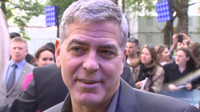george clooney on his top tips for married life at 'tomorrowland': a world beyond uk premiere - george clooney stock videos & royalty-free footage