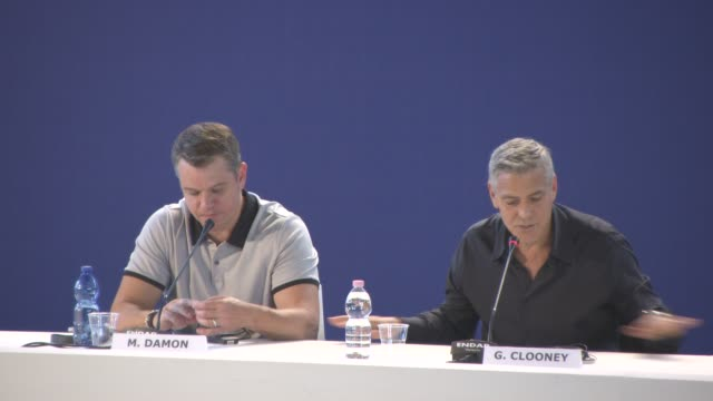 INTERVIEW George Clooney on how evil characters our created onscreen monsters the films characters at 'Suburbicon' Press Conference 74th Venice...