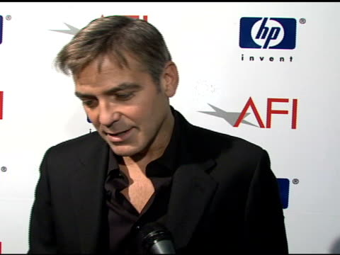 george clooney on 'michael clayton' being honored afi recognizing creative teams favorite film genre and his hope to help end the writers' strike at... - 2008 stock videos & royalty-free footage