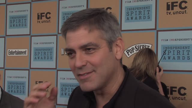 george clooney on oscar nominated films and independent nominated films being similar throughout history at the the 21st annual ifp independent... - ifp independent spirit awards stock videos and b-roll footage
