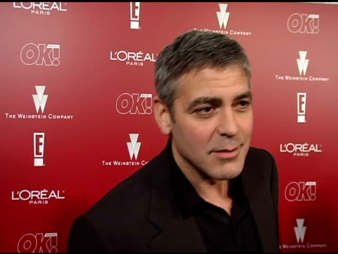 george clooney on the issues raised in 'good night and good luck' and on the importance of the film at the 2006 weinstein company preoscar party at... - 2006 stock videos & royalty-free footage