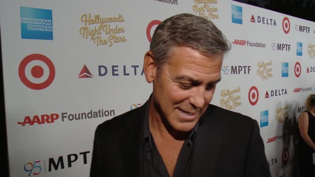 INTERVIEW George Clooney on tonight event what MPTF does at the George Clooney Hosts MPTF's 95th Anniversary Celebration on October 1 2016 in...