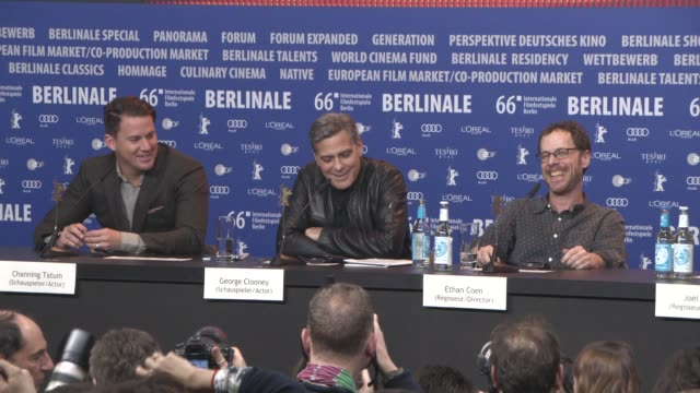 INTERVIEW George Clooney on working with the Coen brothers at 'Hail Caesar' Press Conference 66th Berlin International Film Festival at Grand Hyatt...