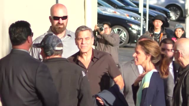 George Clooney outside Jimmy Kimmel Live in Hollywood in Celebrity Sightings in Los Angeles