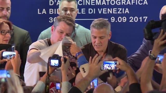 George Clooney regreso al festival de Venecia el sabado con su nueva pelicula como director Suburbicon con la que compite por el León de Oro
