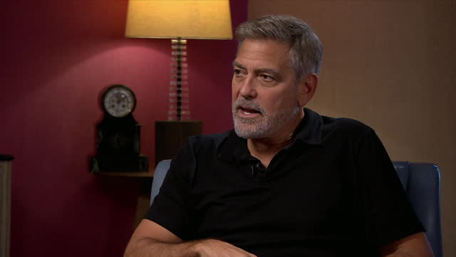"""george clooney saying 'the tender bar', a new film he directs, is """"a really kind film"""" - care stock videos & royalty-free footage"""