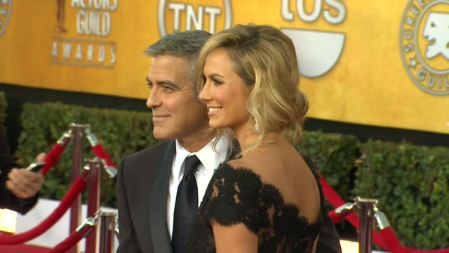George Clooney Stacy Keibler at 18th Annual Screen Actors Guild Awards Arrivals on 1/29/12 in Los Angeles CA