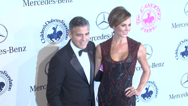 George Clooney Stacy Keibler at 26th Anniversary Carousel of Hope Ball on in Beverly Hills CA