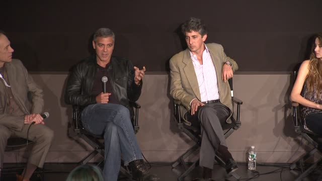 George Clooney talks about how getting older makes one more forgiving at the 'The Descendants' 49th Annual New York Film Festival Press Conference...