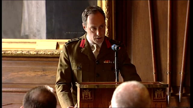 george cross awarded to bomb disposal experts england london photography** brigadier tim radford speech sot on awarding the george cross to staff... - sergeant stock videos & royalty-free footage