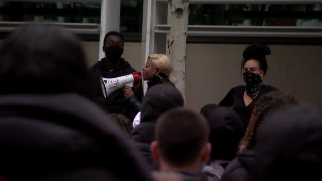 black lives matter protests home office protest uk london black lives matter protest outside the home office england london westminster ext various... - i can't breathe stock videos & royalty-free footage