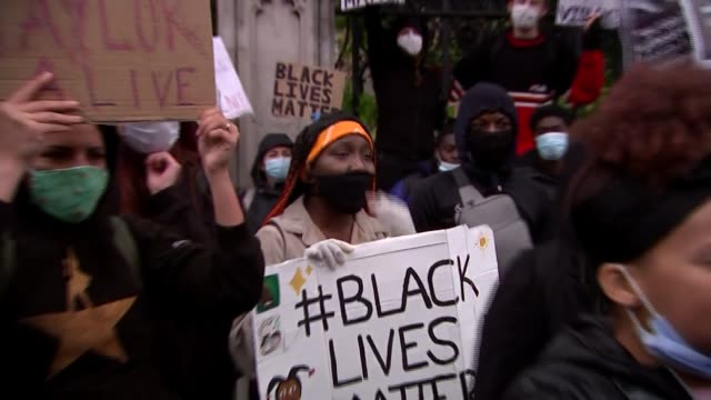 black lives matter protests: westminster; uk, london, westminster; people attending a large black lives matter protest. england: london: westminster:... - statue stock videos & royalty-free footage