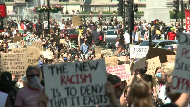 britain's history of racial inequality england london trafalgar square ext black lives matter protesters marching in solidarity with george floyd... - politics stock videos & royalty-free footage