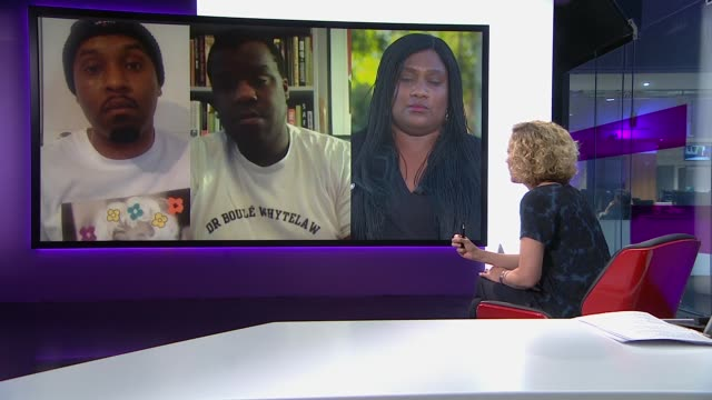 britain's history of racial inequality england london gir int bell ribeiroaddy mp dane baptiste and nels abbey live 2way interviews sot part 1 of 2 - politics stock videos & royalty-free footage