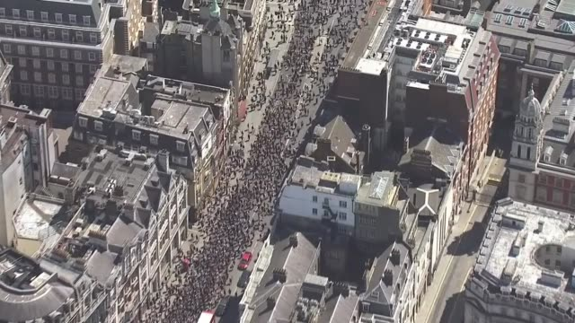 protesters march in london berlin and copenhagen to show solidarity england london protesters along whitehall - politics stock videos & royalty-free footage