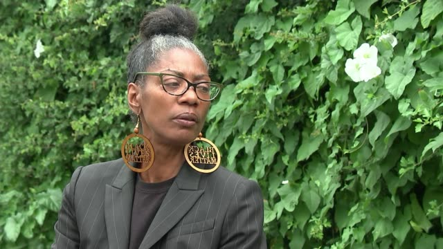 george floyd death / sean rigg death in custody sean rigg's sister on police brutality in the uk england london ext marcia rigg interview sot when... - i can't breathe stock videos & royalty-free footage