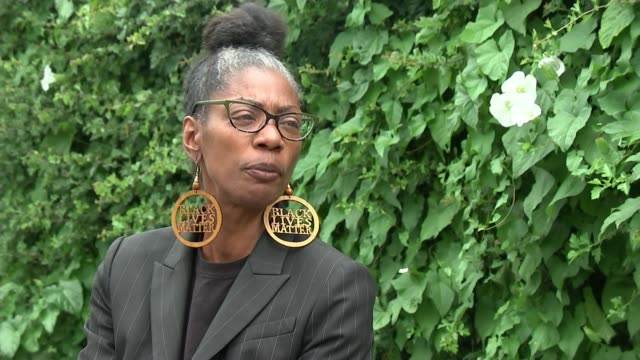 george floyd death / sean rigg death in custody sean rigg's sister on police brutality in the uk england london ext marcia rigg interview sot police... - i can't breathe stock videos & royalty-free footage