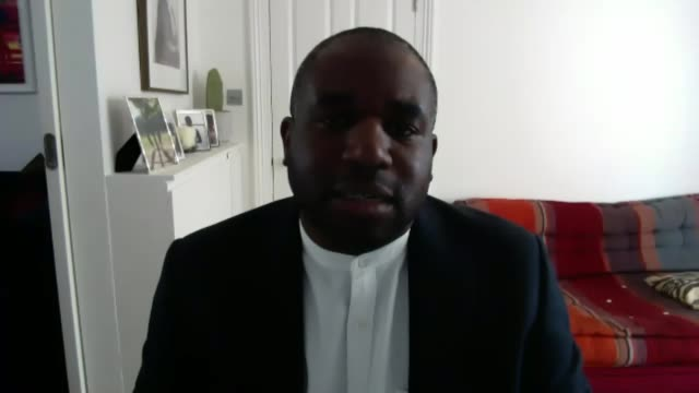 unrest in us cities provides sobering history lesson england london int david lammy mp interview via the internet sot - politics stock videos & royalty-free footage