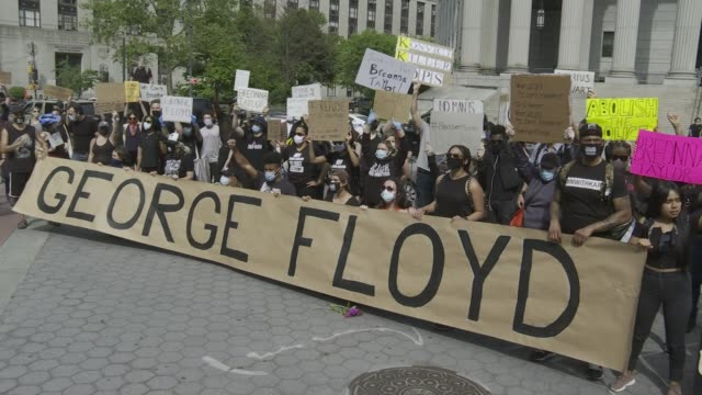 george floyd protests in nyc - george floyd stock videos & royalty-free footage