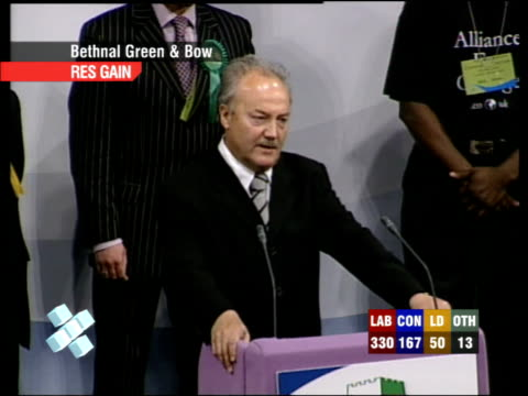 special 0400 0500 george galloway mp speech sot mr blair this is for iraq / all the defeats new labour has suffered this evening is for iraq / all... - cherie charles stock videos & royalty-free footage