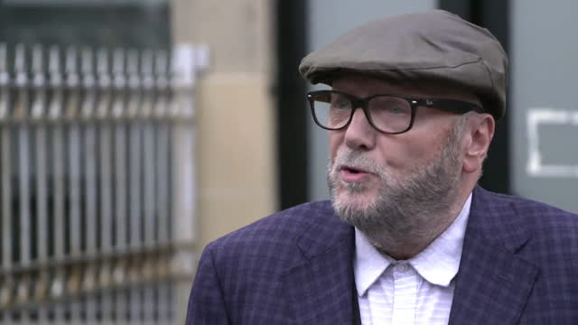 """george galloway saying the abuse aimed at labour candidate kim leadbeater """"has absolutely nothing to do with me"""" - party social event stock videos & royalty-free footage"""