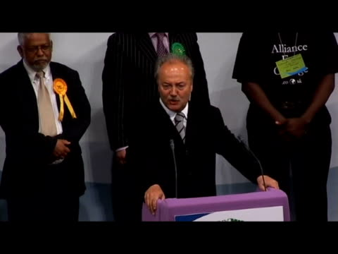 george galloway wins in bethnal green and bow constituency george galloway mp speech sot mr blair this is for iraq / all the people you killed all... - bethnal green stock videos & royalty-free footage